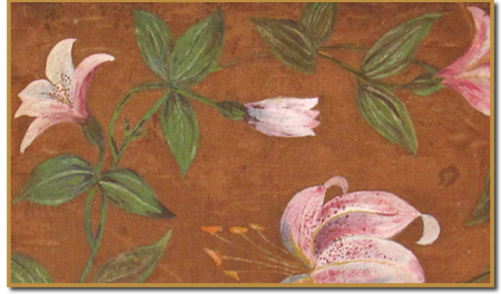 "Detail of ""Lilies"" by Princess Ka'iulani, Collection of Melinda Lee Cleghorn"